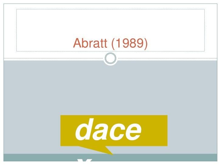 Abratt (1989)<br />dacex<br />