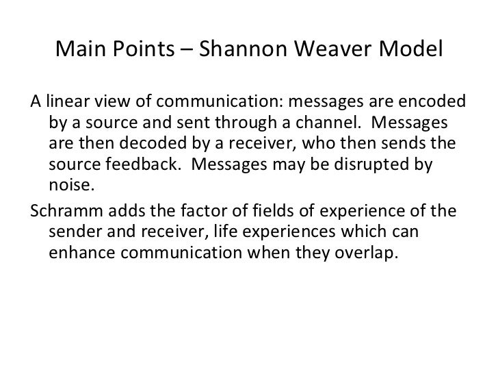 Shannon and Weaver's Communication Model