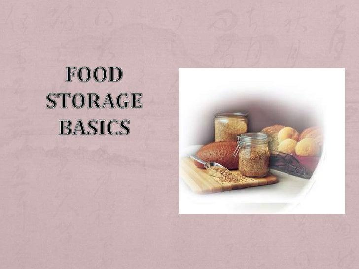 Food Storage Basics<br />