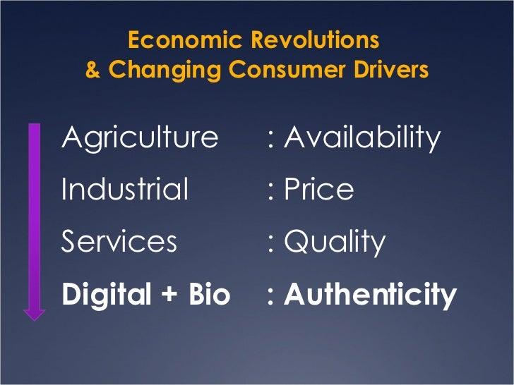 Economic Revolutions  & Changing Consumer Drivers <ul><li>Agriculture  : Availability </li></ul><ul><li>Industrial  : Pric...