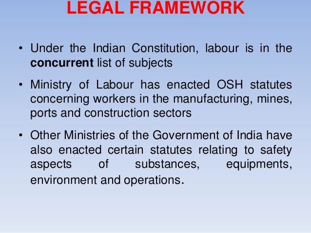 a study of occupational health and safety in indian construction essay Occupational health and safety in the australian a well-known early study into safety management was undertaken by american engineer h w heinrich in 1931 and is.