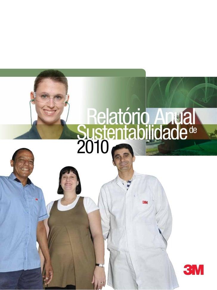 Relatório AnualSustentabilidade               de2010