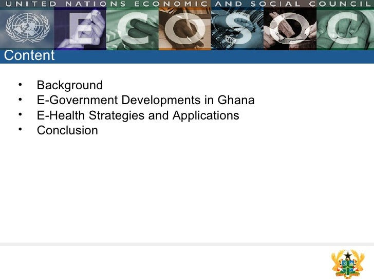 E-Government and E-Health Strategies by Mrs. Veronica Boateng Slide 2