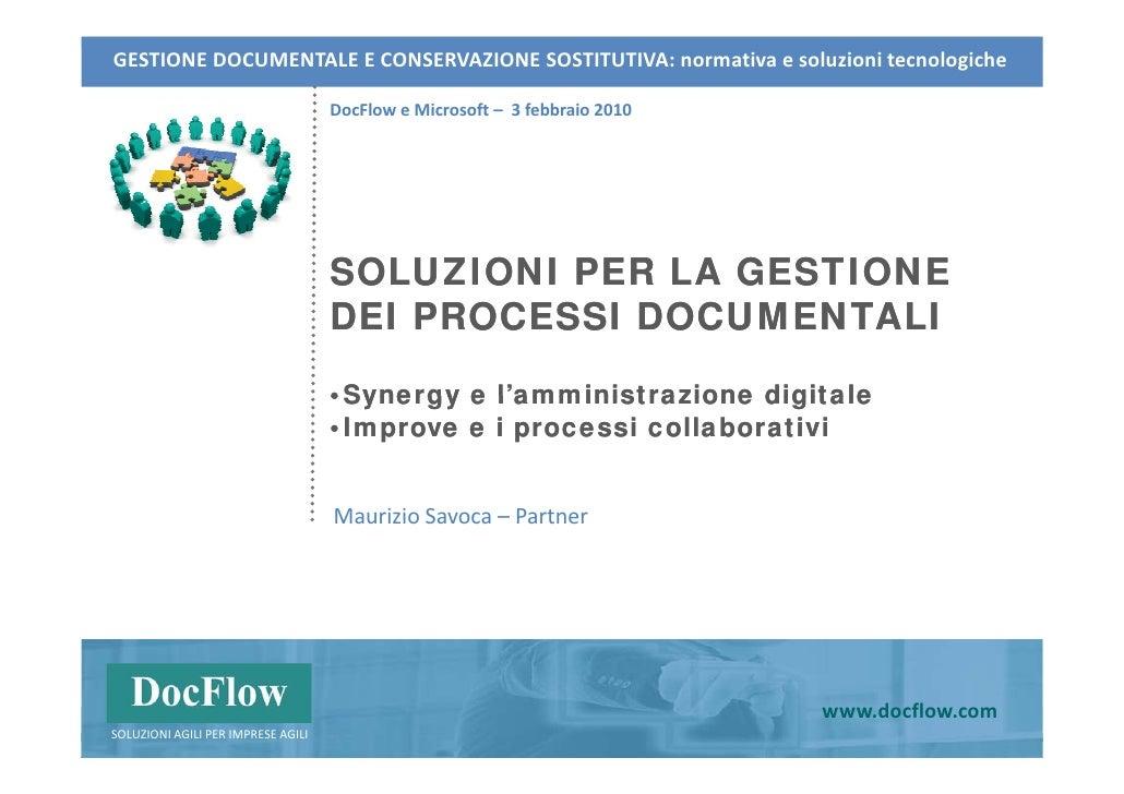 GESTIONEDOCUMENTALEECONSERVAZIONESOSTITUTIVA:normativaesoluzionitecnologiche                                    Do...