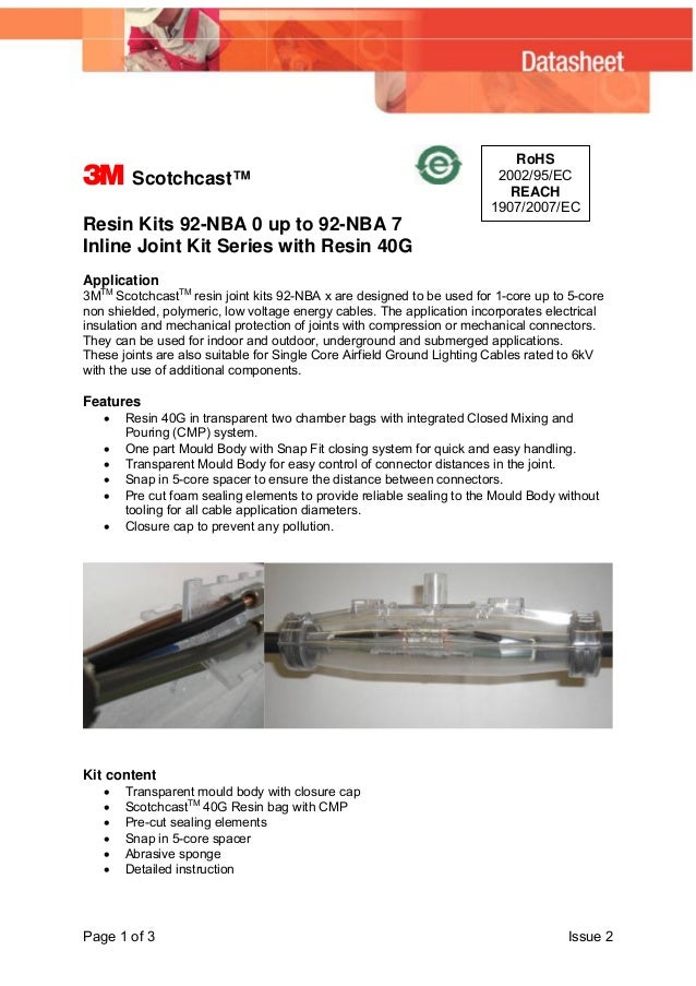 3M Scotchcast Resin Cable Joints 92 NBA Inline Kits