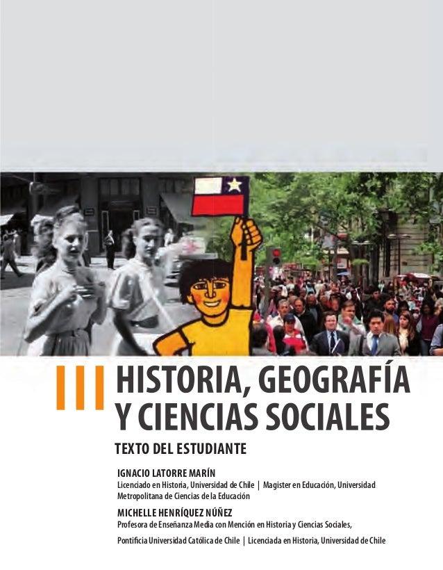TEXTO DEL ESTUDIANTE IGNACIO LATORRE MARÍN  LicenciadoenHistoria,UniversidaddeChile|MagisterenEducación,Univer...