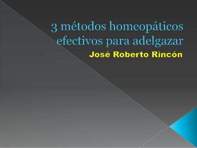 3 métodos homeopáticos efectivos para adelgazar