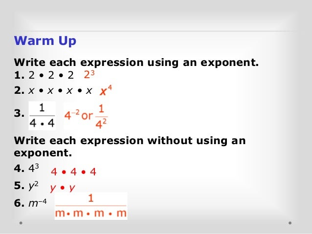 Multiplication Properties of Exponents – Properties of Exponents Worksheet Answers