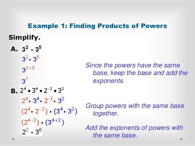 Adding powers different bases in dating 3