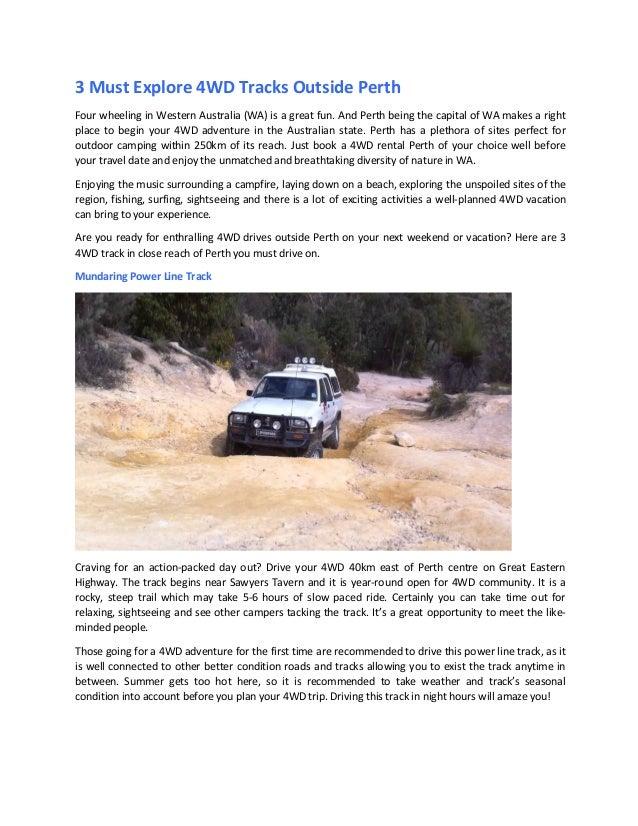 3 Must Explore 4WD Tracks Outside Perth