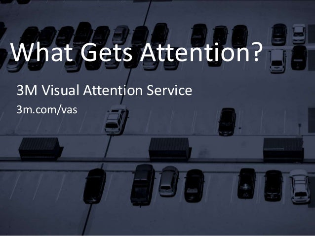 What Gets Attention? 3M Visual Attention Service 3m.com/vas