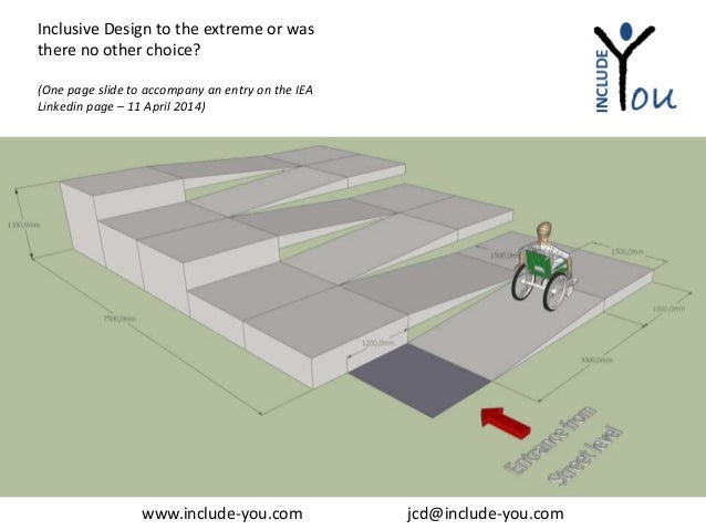 Inclusive Design Universal Design Wheelchair Ramp Access