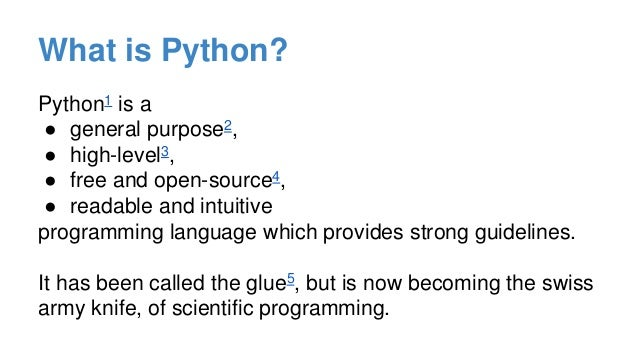 What Is Python An Overview Of Python For Science