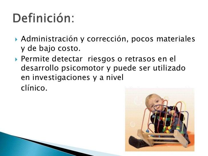 Perfil del Desarrollo Psicomotor<br /><ul><li>Da a conocer en forma mas precisa el desarrollo del nino ,en las distintas á...