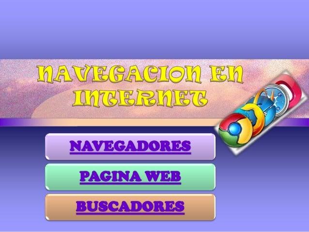NAVEGADORES PAGINA WEB BUSCADORES