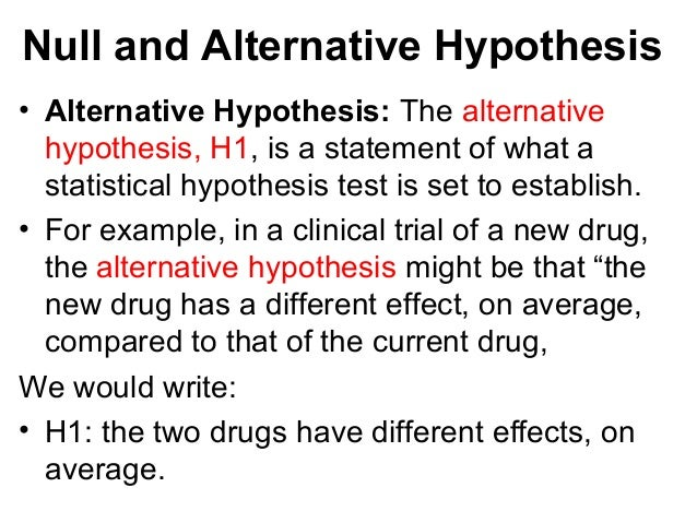 null and alternative hypotheses essay Step type a 0 to create a null hypothesis symbol or 1 to create an alternative hypothesis symbol alternatively, type an o or a to represent the null and alternative hypotheses, respectively, although these symbols are not as frequently used.