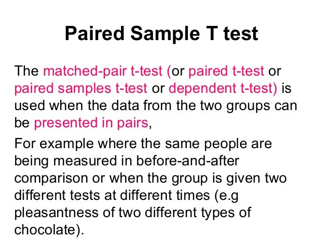 Example of hypotheses for paired and two-sample t tests (video.