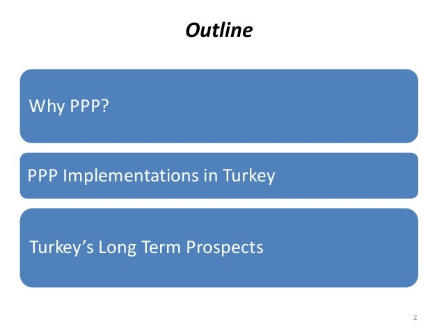 Outline Why PPP? PPP Implementations in Turkey Turkey's Long Term Prospects 2