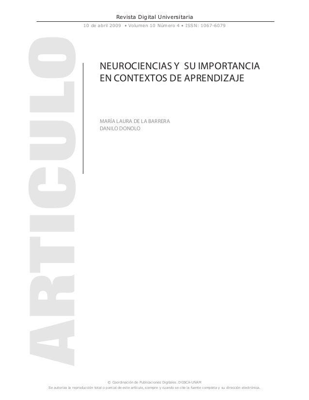 Revista Digital Universitaria 10 de abril 2009 • Volumen 10 Número 4 • ISSN: 1067-6079 © Coordinación de Publicaciones Dig...