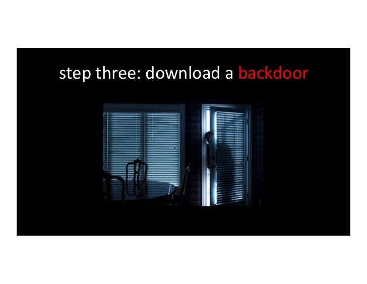 step four: establish a back channel