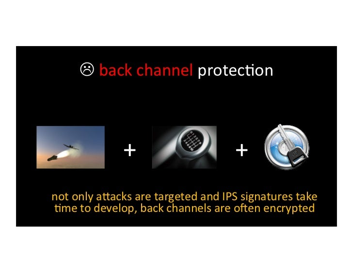  explore-‐and-‐steal protec>on minimal internal security means that once inside,     an a?acker ...