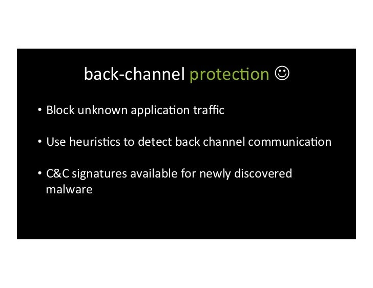 explore-‐and-‐steal protec>on  • Network segmenta>on • Control access to data by user and app...
