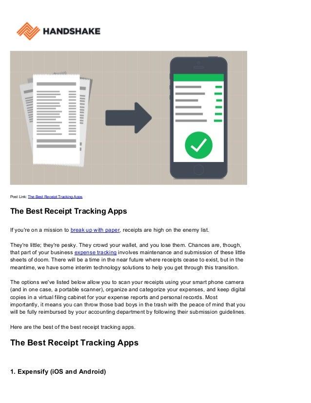 The Best Receipt Tracking Apps | Handshake