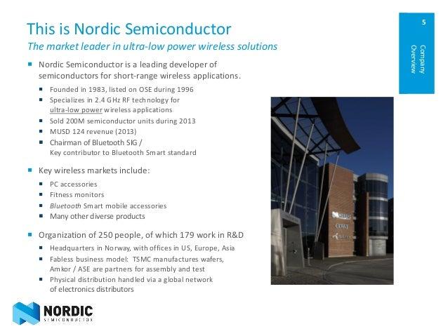 Investordagen høsten 2014 - Nordic Semiconductor Company