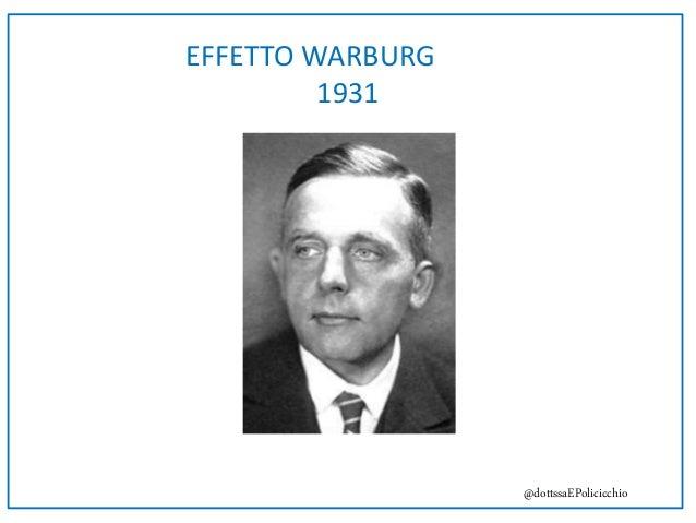 EFFETTO WARBURG 1931 @dottssaEPolicicchio