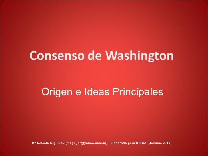 Origen e Ideas Principales Mª Celeste Gigli Box (mcgb_br@yahoo.com.br) - Elaborado para ÚNICA (Berisso, 2010)