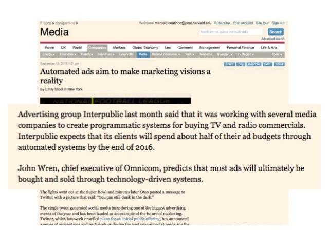• Leis de Moore, Metcalfe e a economia das externalidades das redes mudam a base econômica da compra e venda de mídia e, p...