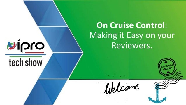 On Cruise Control: Making it Easy on your Reviewers.