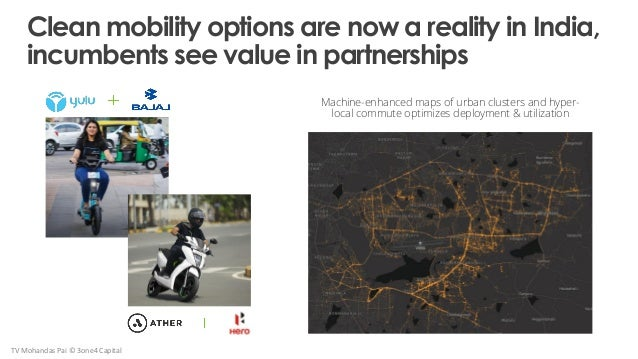 Clean mobility options are now a reality in India, incumbents see value in partnerships TV Mohandas Pai © 3one4 Capital Ma...