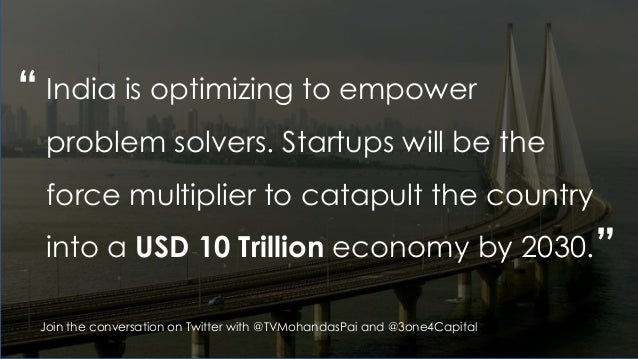 """"""" """" India is optimizing to empower problem solvers. Startups will be the force multiplier to catapult the country into a U..."""
