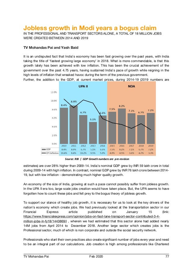 India - Reflections on the Economy, Employment, Budgets, and Taxation