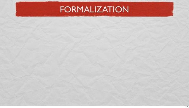 FORMALIZATION  26