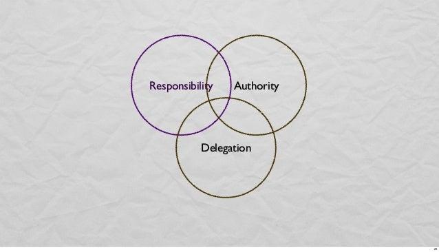 Responsibility  Authority  Delegation  29