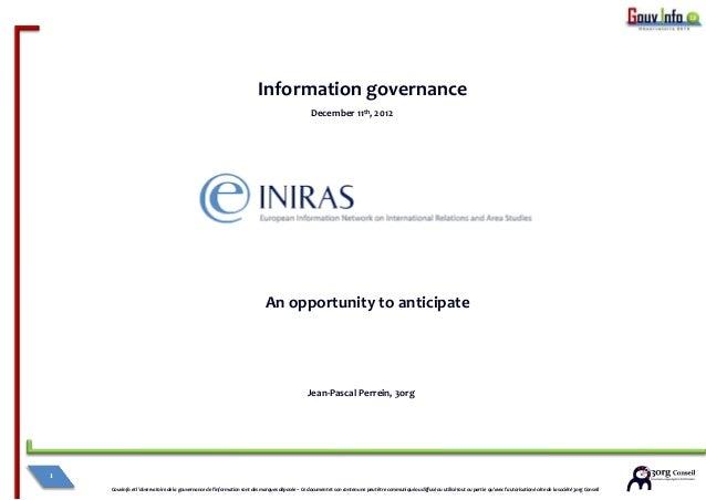 Information governance                                                                                                   D...