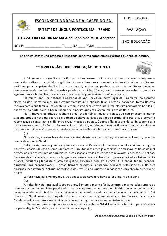 PROFESSORA:               ESCOLA SECUNDÁRIA DE ALCÁCER DO SAL                                _________________            ...