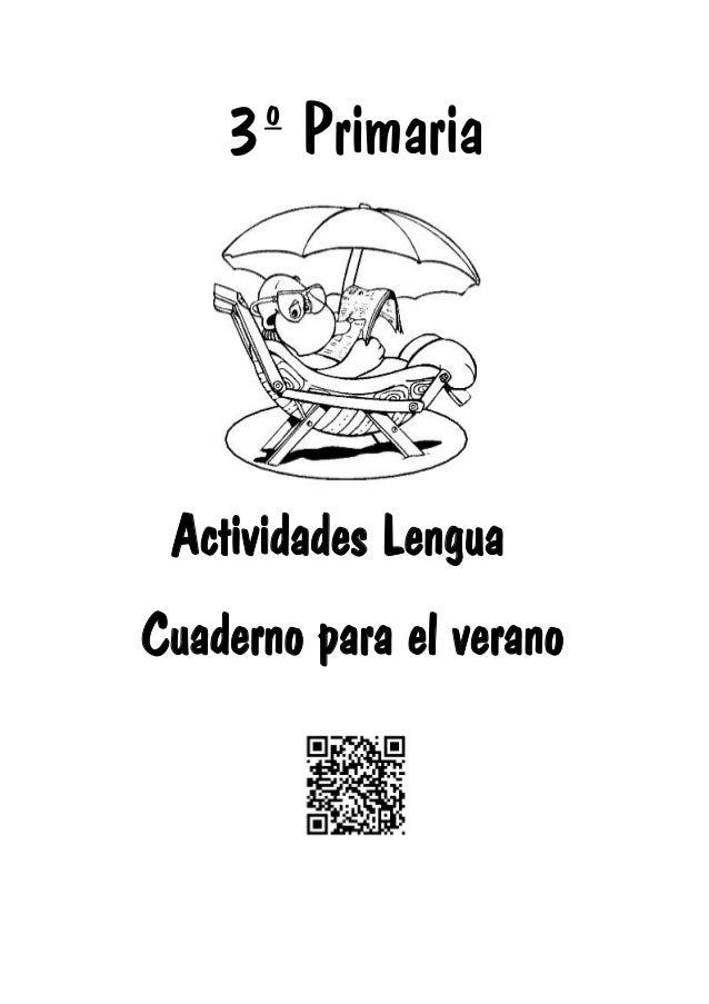 3º Primaria Actividades Lengua Cuaderno para el verano