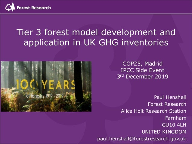 Paul Henshall Forest Research Alice Holt Research Station Farnham GU10 4LH UNITED KINGDOM paul.henshall@forestresearch.gov...
