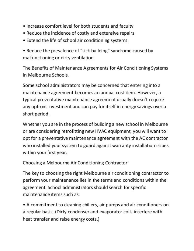 Regular Air Conditioning Maintenance In Melbourne Schools Will Also: 2.