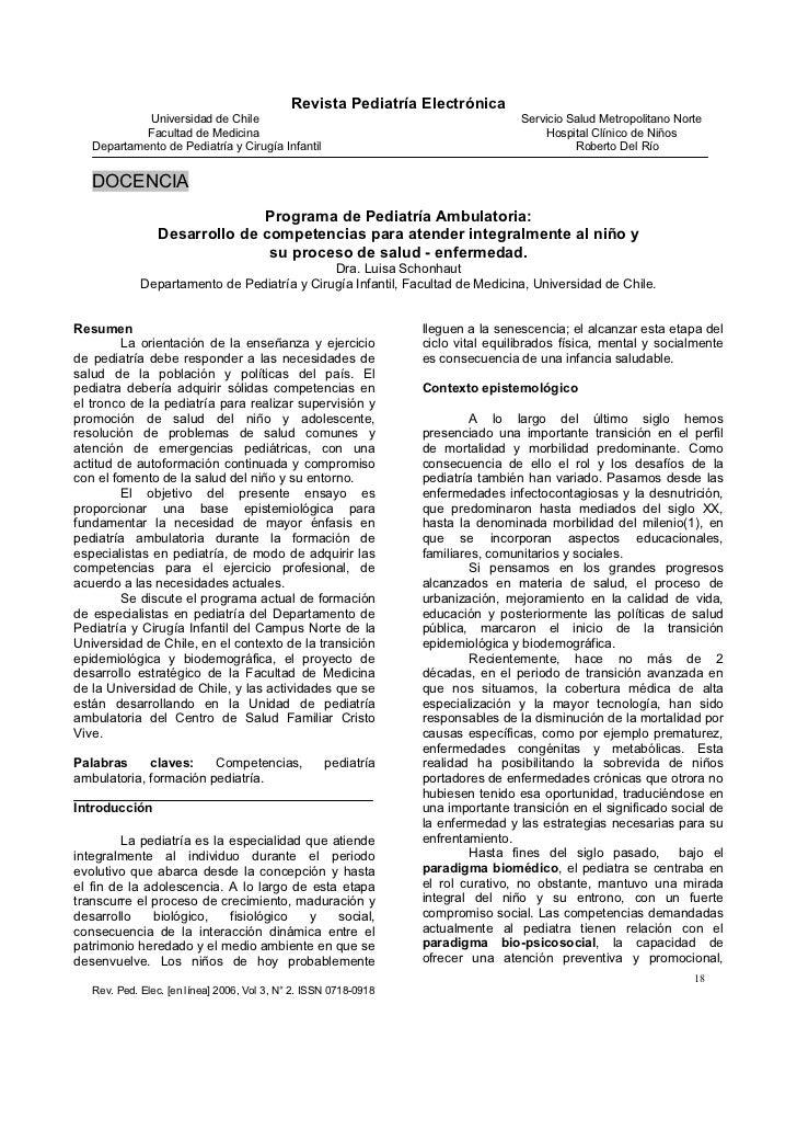 Revista Pediatría Electrónica            Universidad de Chile                                                   Servicio S...