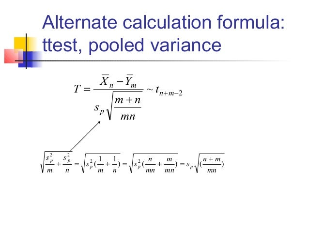The two sample t-test