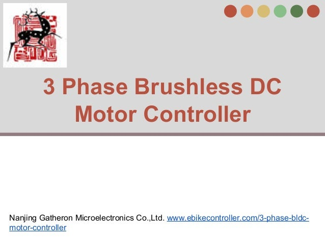 3 phase brushless dc motor controller for 3 phase dc motor controller