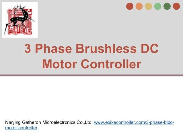 3 Phase Brushless Dc Motor Controller