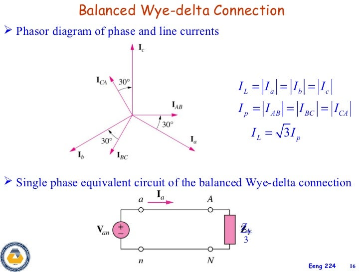 3phase circuits 16 balanced wye delta connection phasor diagram ccuart