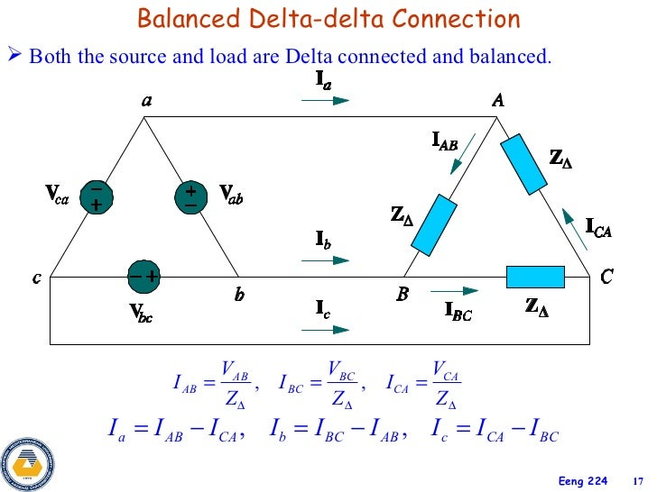 Delta delta wiring connection electrical drawing wiring diagram 3phase circuits rh slideshare net delta delta connection voltage delta delta motor wiring sciox Gallery