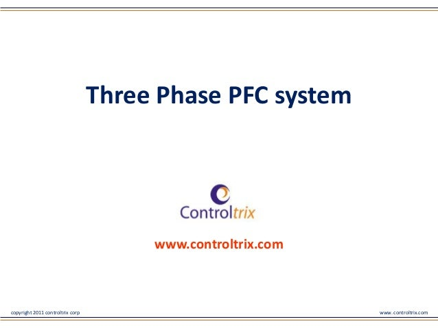 copyright 2011 controltrix corp www. controltrix.comwww.controltrix.comThree Phase PFC system