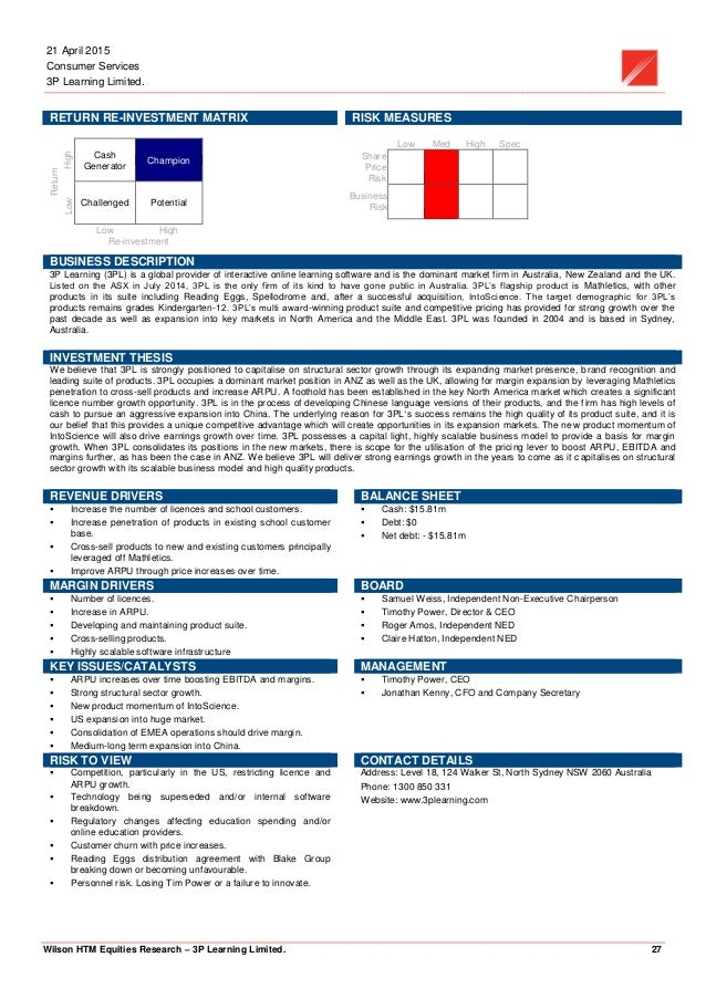 3PL - equity research - initiation report